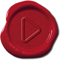 "Wax seal ""play"" button"