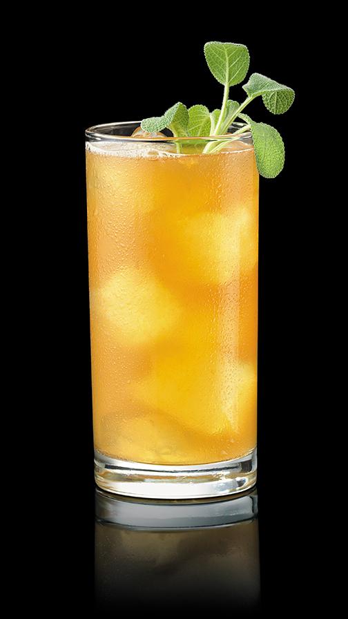 Apricot Sage Bourbon Cocktail