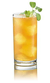 Apricot sagebourbon cocktail