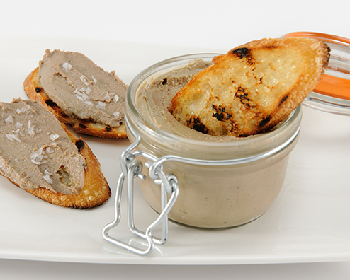 Bourbon chicken liver mousse 494x396