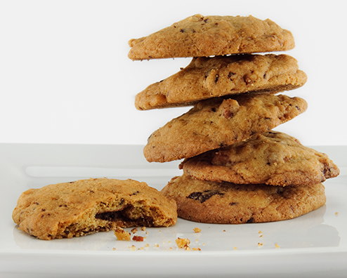 Bourbon bacon chocolate cookies 494x396