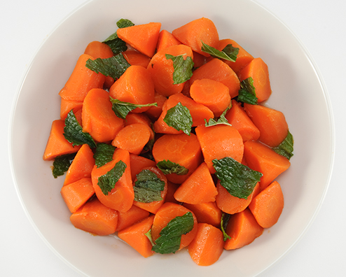 Makers mark glazed nantes carrots with mint 494x396