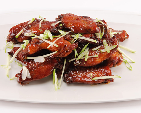 Bourbon apple glazed chicken wings 494x396
