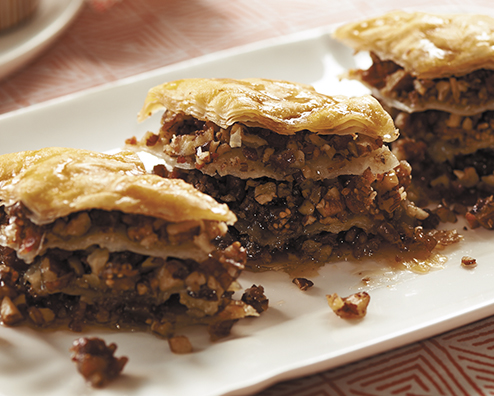 Makers mark bacon pecan bourbon baklava 494x396